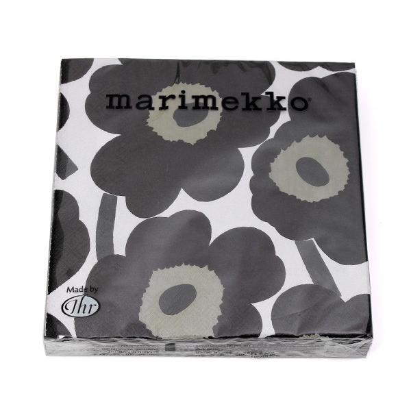 マリメッコ ペーパーナプキン ウニッコ ホワイト/ブラック 33x33cm 20枚入り marimekko UNIKKO|ideale|02