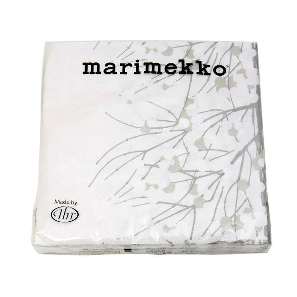 マリメッコ ペーパーナプキン ルミマルヤ グレー(グレイ) 33x33cm 20枚入り marimekko LUMIMARJA|ideale|02