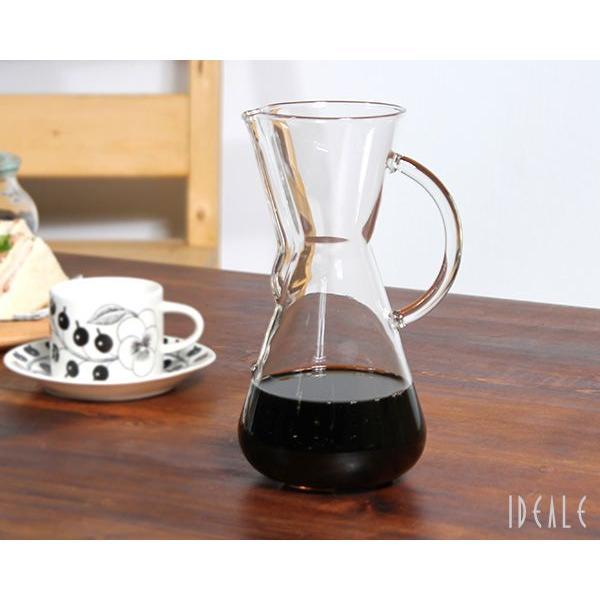 ケメックス CHEMEX コーヒーメーカー 3カップ CM-1GH ハンドル付 ガラスハンドル|ideale