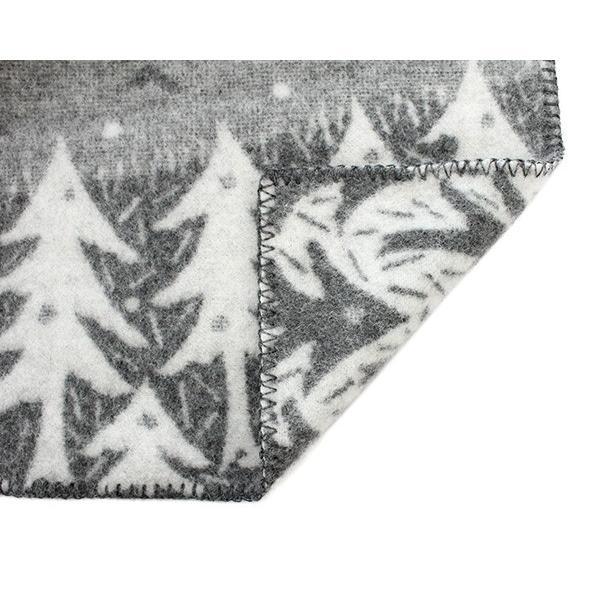 クリッパン×ミナ ペルホネン レイクインザバレー ウールブランケット シングル 130×180cm グレー(グレイ) KLIPPAN×mina perhonen Lake in the valley ideale 05