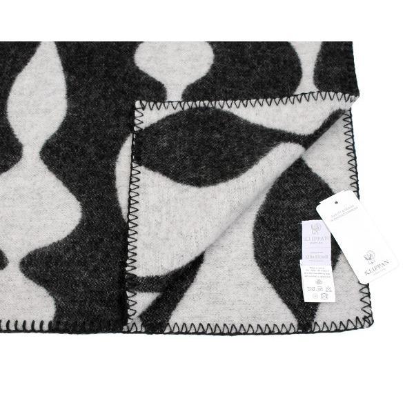 クリッパン マーガレットローズ プレミアムウール ブランケット シングル 130×180cm ブラック KLIPPAN Margaret Rose 226701 ideale 04