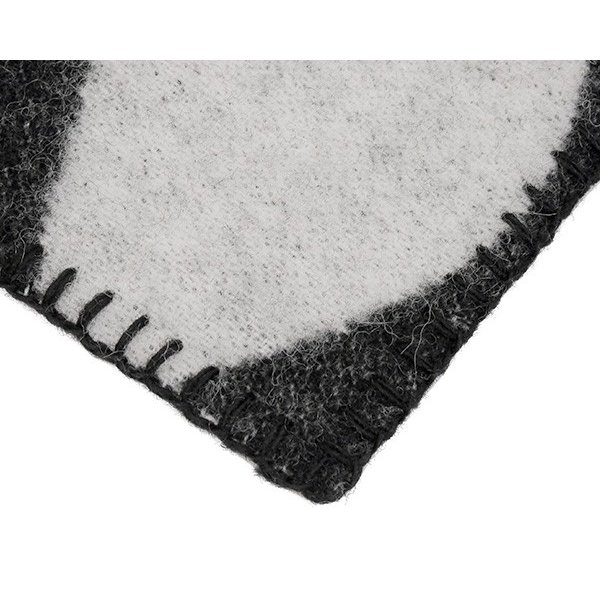 クリッパン マーガレットローズ プレミアムウール ブランケット シングル 130×180cm ブラック KLIPPAN Margaret Rose 226701 ideale 05