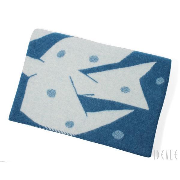 クリッパン KLIPPAN ×ミナ ペルホネン 225503 TRIP/トリップ ウールシングルブランケット 130×180cm ブルー/ホワイト|ideale|02