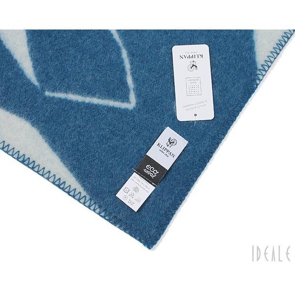 クリッパン KLIPPAN ×ミナ ペルホネン 225503 TRIP/トリップ ウールシングルブランケット 130×180cm ブルー/ホワイト|ideale|03