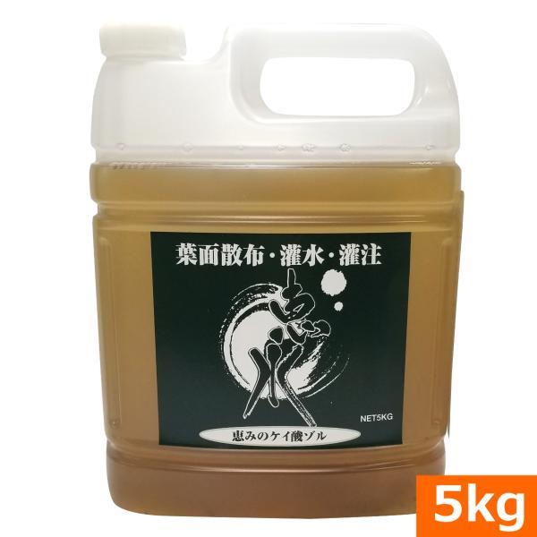 吸収率の高いケイ酸ゾル『恵水(けいすい)5kg』