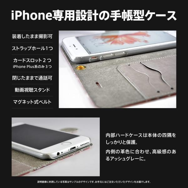 iPhone 手帳型 ケース カバー 桜 青 アトリエアイリス 花 春 花びら かわいい きれい おしゃれ 星 和 和柄 idesignstore 02