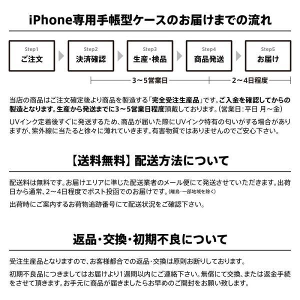 iPhone 手帳型 ケース カバー 桜 青 アトリエアイリス 花 春 花びら かわいい きれい おしゃれ 星 和 和柄 idesignstore 07