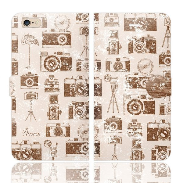 f2b7a206c2 iPhone6s Plus iPhone6Plus 手帳型 ケース カバー アンティークカメラ ピンク デザイナーズ 写真機 カメラ