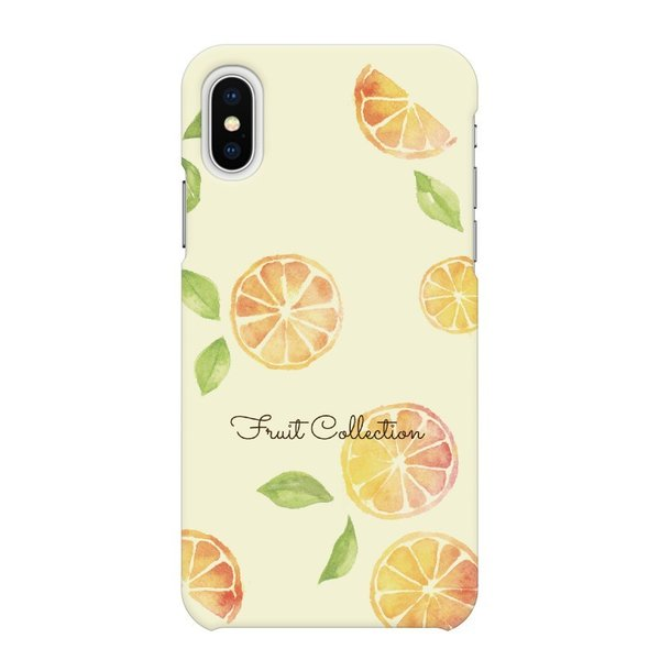 らくらくホン 用 ハード スマートフォン スマホ ケース カバー オレンジ cinnamon かわいい 夏 オランジェット