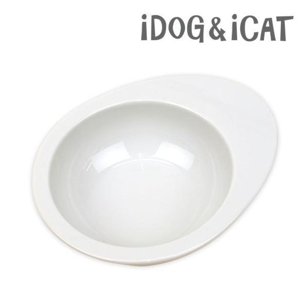 犬用食器 iDog ドゥーエッグ フードボウル 無地 ホワイト 猫用食器|idog