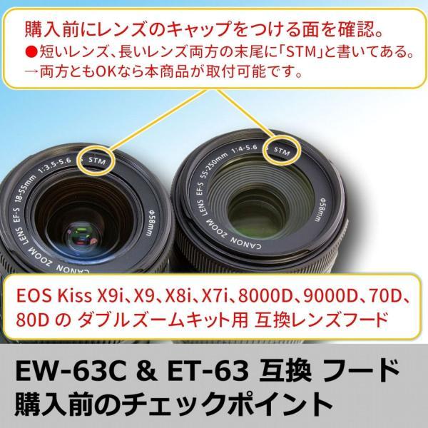 F-Foto キャノン EOS Kiss X9i/X9/X8i/X7i/80D/70D/9000D/8000D ダブルズームキット に適合