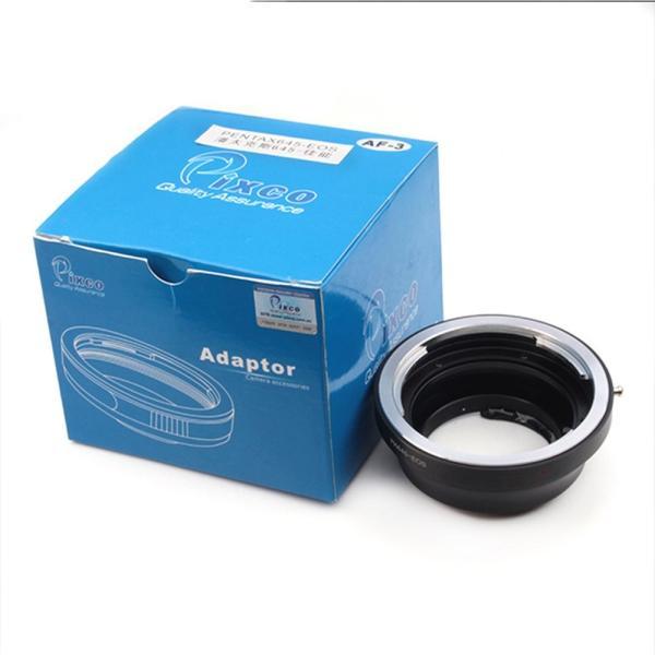 (バシュポ) Pixco AF-3 電子接点付きマウント変換アダプター Pentax 645 レンズ-Canon (D)SLRカメラボディー