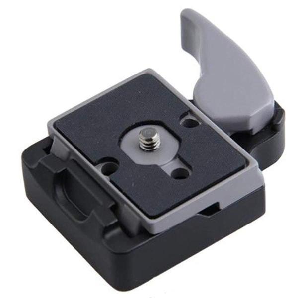 Innens クイックリリース プレートアダプター323 Manfrotto 200PL-14プレート互換 マンフロットプレート (灰色)