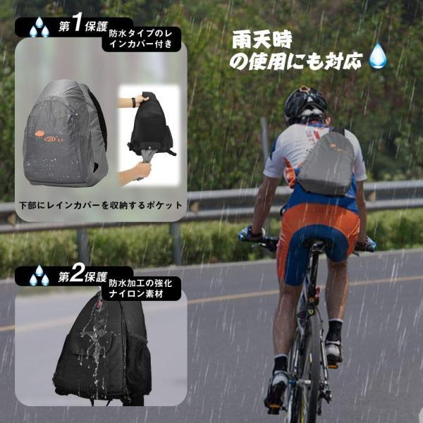 カメラバッグ スリングバッグ 一眼レフ用 カメラリュック 防水 軽量 大容量 三脚取付可 レインカバー付き 旅行 登山 アウトドアに適用 2