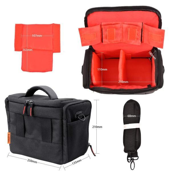 FOSOTO アンチショックDSLR SLRカメラケースバッグはNikon D3300 D3200 D3400 D5500 D5300 D5