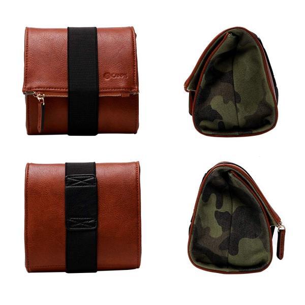 CANPIS高級のPU皮迷彩ズックのカメラバッグ収納バッグは小型フィルムカメラ、マイクロカメラに適用します