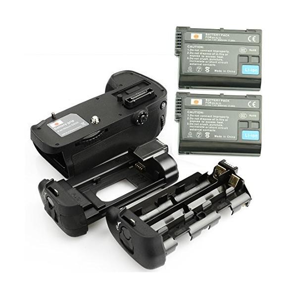 DSTE? プロ 互? MB-D14 垂直 バッテリーグリップ + 2x EN-EL15 のために Nikon ニコン D600 D610