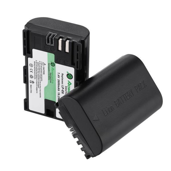 Powerextra 2個セット キャノン Canon LP-E6/LP-E6N 互換バッテリー 予備バッテリー EOS 5D Mark I