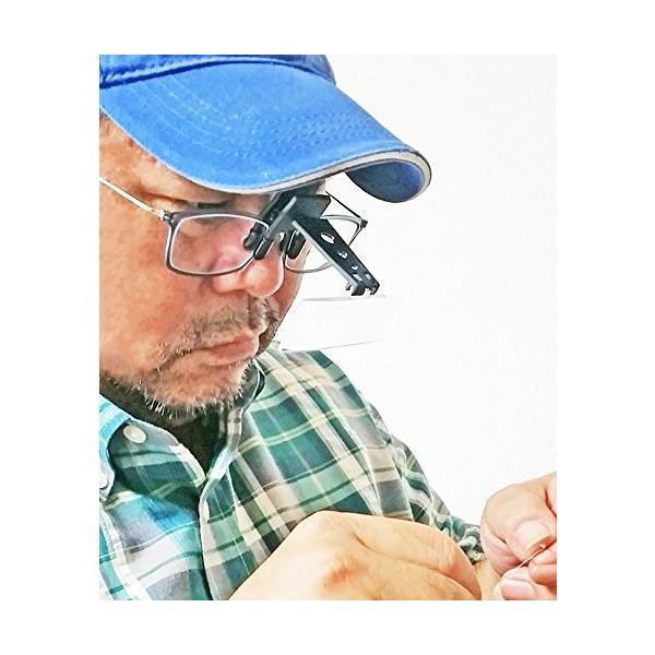 Scamp 眼鏡取り付けルーペ 3枚レンズ付き
