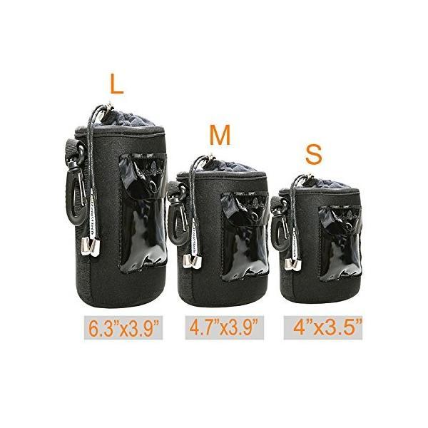 Foto & Tech 3ピース5?mm Extra Thick防水雨カバーネオプレンレンズとフランネル襟レンズバッグひもで調節可能&回転ク