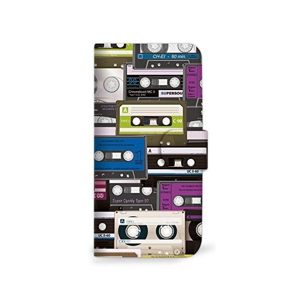 mitas AQUOS sense SHV40 ケース 手帳型 カセット柄 パープル (358) SC-0093-PU/SHV40