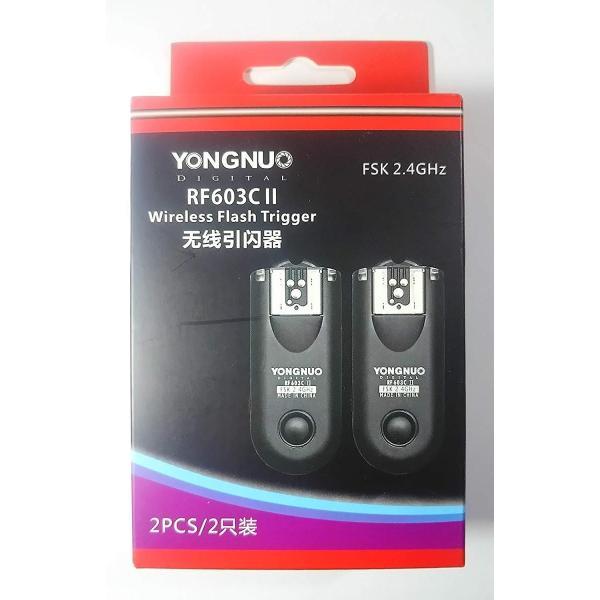 YONGNUO製 RF603CII-C3 第二世代 ワイヤレス・ラジオスレーブ 無線レリーズ キャノン用セット Canon 1D、50D、2