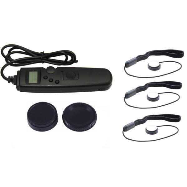 NinoLite 6点セット MC-36 / MC-36A の互換品 + レンズ キャップ ホルダー3個 + カメラ 用 キャップ2個