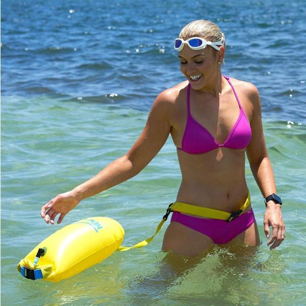 New Wave Swim Buoy スイムブイ 水泳ブイ オープンウォータースイマー、トライアスロン、トライアスリート用軽量ブイ トレーニ|idr-store|02