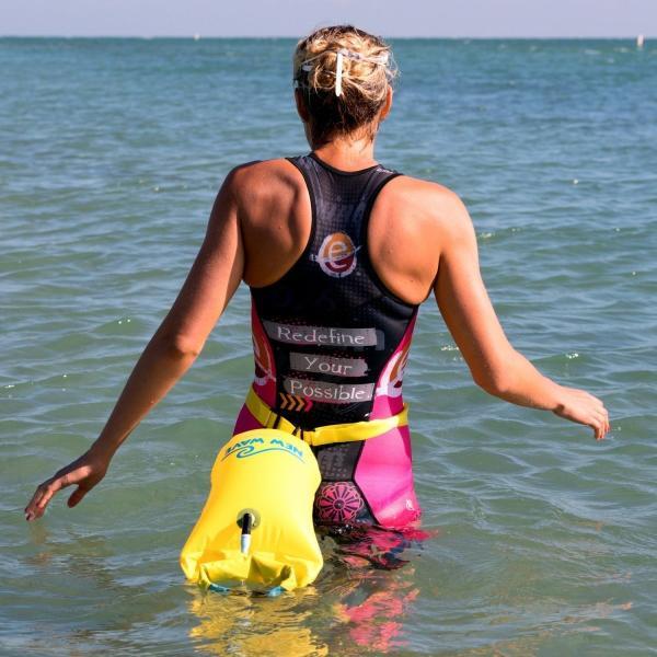 New Wave Swim Buoy スイムブイ 水泳ブイ オープンウォータースイマー、トライアスロン、トライアスリート用軽量ブイ トレーニ|idr-store|11