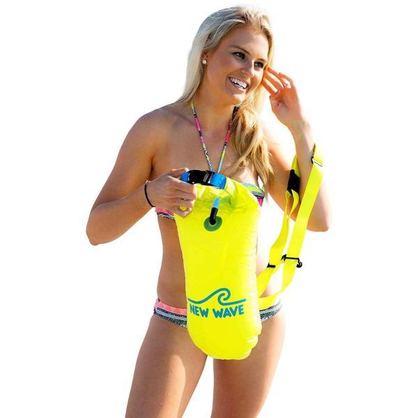 New Wave Swim Buoy スイムブイ 水泳ブイ オープンウォータースイマー、トライアスロン、トライアスリート用軽量ブイ トレーニ|idr-store|03