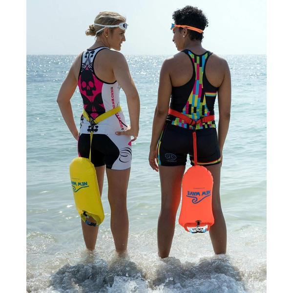 New Wave Swim Buoy スイムブイ 水泳ブイ オープンウォータースイマー、トライアスロン、トライアスリート用軽量ブイ トレーニ|idr-store|04