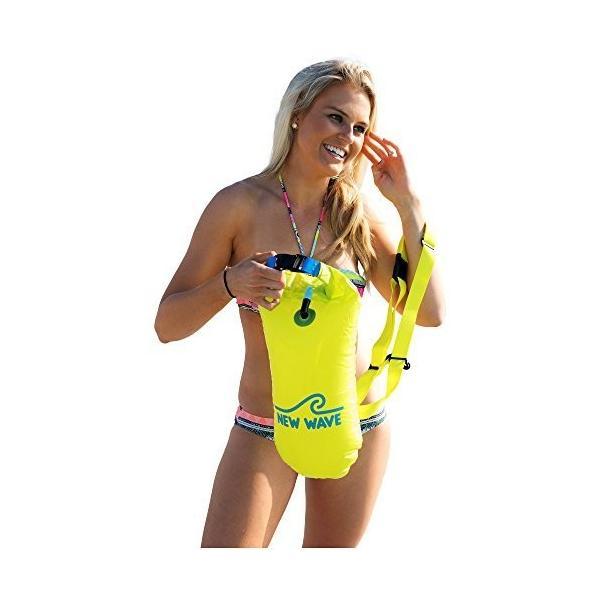 New Wave Swim Buoy スイムブイ 水泳ブイ オープンウォータースイマー、トライアスロン、トライアスリート用軽量ブイ トレーニ|idr-store|05