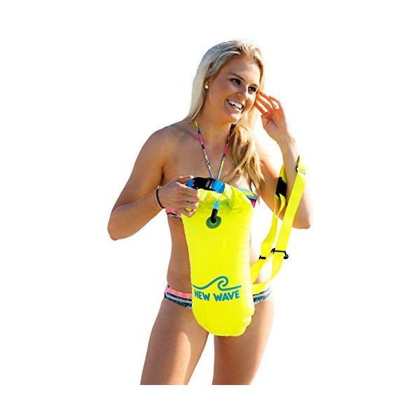 New Wave Swim Buoy スイムブイ 水泳ブイ オープンウォータースイマー、トライアスロン、トライアスリート用軽量ブイ トレーニ|idr-store|09