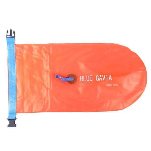 スイムブイ フロート ダブル エアバッグ デュアルバルブ 男女 大人 子供 兼用 浮き輪 トライアスロン (オレンジ) idr-store 03