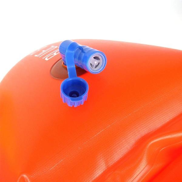 スイムブイ フロート ダブル エアバッグ デュアルバルブ 男女 大人 子供 兼用 浮き輪 トライアスロン (オレンジ) idr-store 04