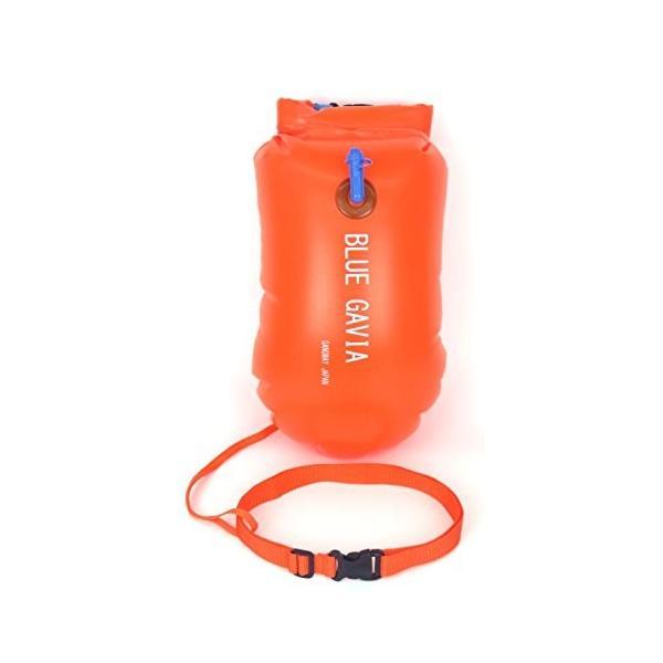 スイムブイ フロート ダブル エアバッグ デュアルバルブ 男女 大人 子供 兼用 浮き輪 トライアスロン (オレンジ) idr-store 06