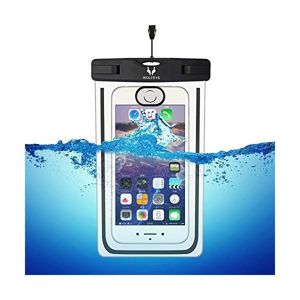 Wolfeye 指紋認証可 防水携帯ケース 高感度PVC IPX8 夜間発光 アウトドア 温泉 釣り お風呂 水泳 砂浜等最適な防水袋 スマ|idr-store|04