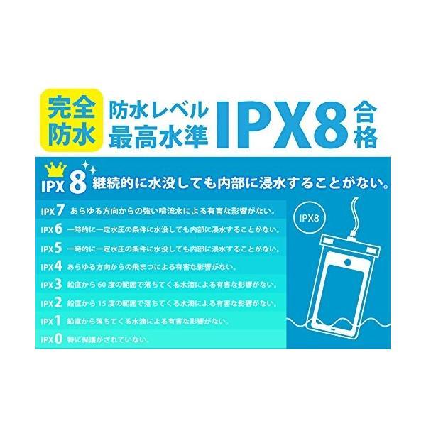 Wolfeye 指紋認証可 防水携帯ケース 高感度PVC IPX8 夜間発光 アウトドア 温泉 釣り お風呂 水泳 砂浜等最適な防水袋 スマ|idr-store|10