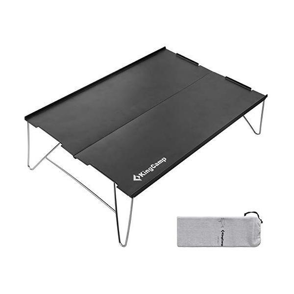 アウトドア テーブル ミニテーブル KingCamp ソロ キャンプ ローテーブル 折りたたみ コンパクト アルミ製 35*25cm 小型|idr-store