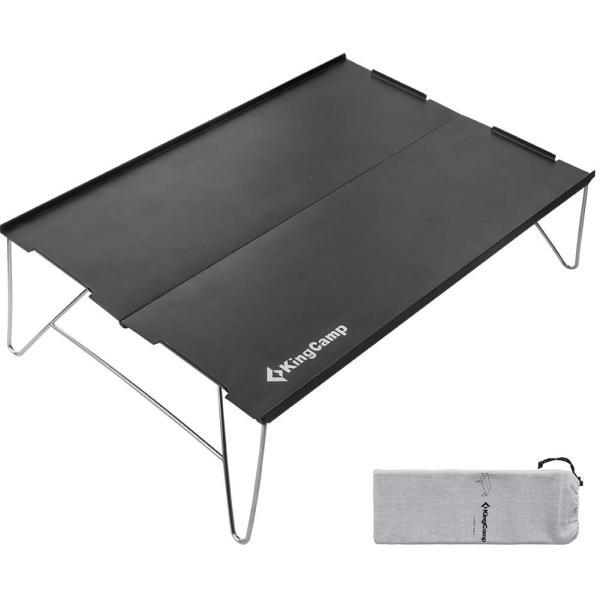 アウトドア テーブル ミニテーブル KingCamp ソロ キャンプ ローテーブル 折りたたみ コンパクト アルミ製 35*25cm 小型|idr-store|07