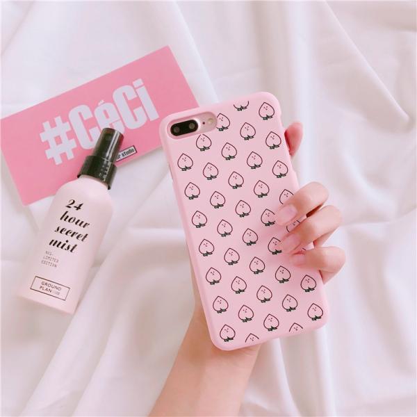 498fff6aea 可愛い もも iphoneケース スマホカバー スマホケース 携帯カバー 携帯ケース  ...