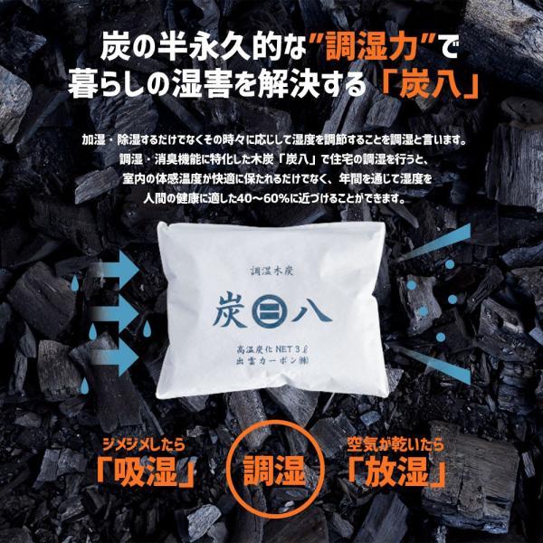 除湿剤 結露 湿気 消臭 炭八 調湿木炭|ienolabo|04