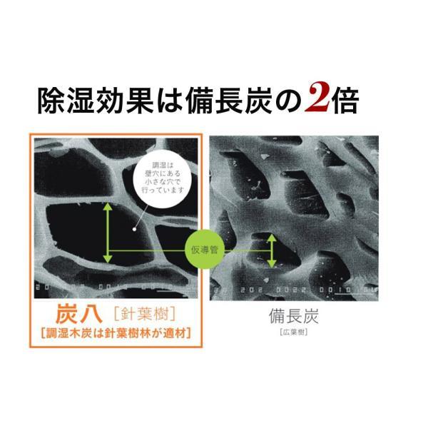 除湿剤 結露  除湿 消臭 脱臭 乾燥 湿気対策 調湿 炭八 8個セット 炭八|ienolabo|03