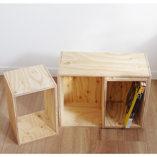 木箱 収納 キューブボックス シェルフ 什器  レコード A4 本棚 おしゃれ 棚|ienolabo|02