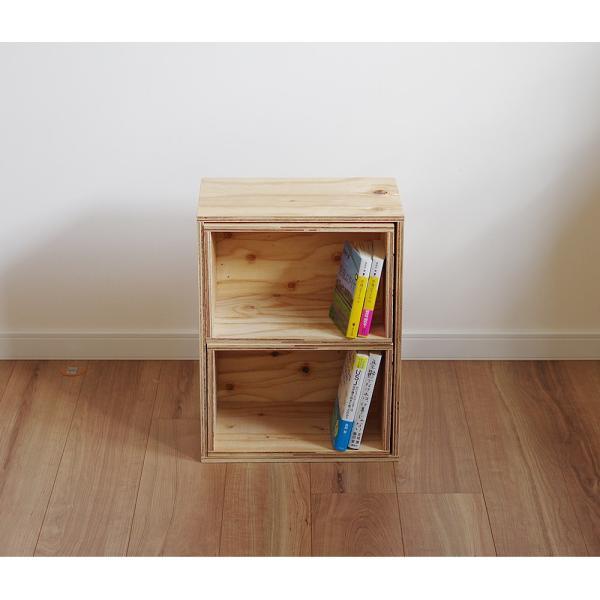 木箱 収納 キューブボックス シェルフ 什器  レコード A4 本棚 おしゃれ 棚|ienolabo|03