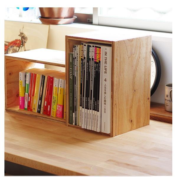 木箱 収納 キューブボックス シェルフ 什器  レコード A4 本棚 おしゃれ 棚|ienolabo|05