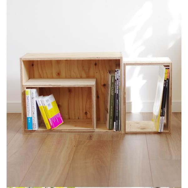 木箱 収納 キューブボックス シェルフ 什器  レコード A4 本棚 おしゃれ 棚|ienolabo|06
