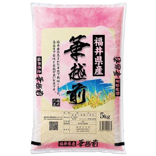 華越前(ハナエチゼン) 5kg 送料無料 福井県 令和2年産(2020年 白米 5キロ)