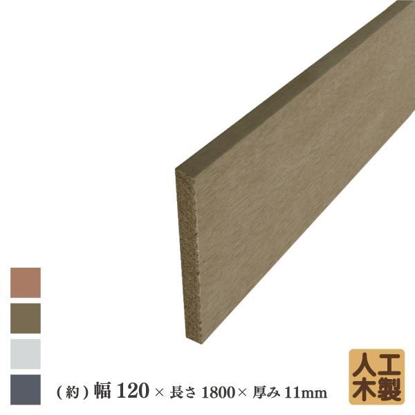 アイウッド人工木材12 ダークブラウン■ L1800mm×W120mm×D11mm ボーダーフェンス用板材 アイウッドデッキ幕板 DIY部材