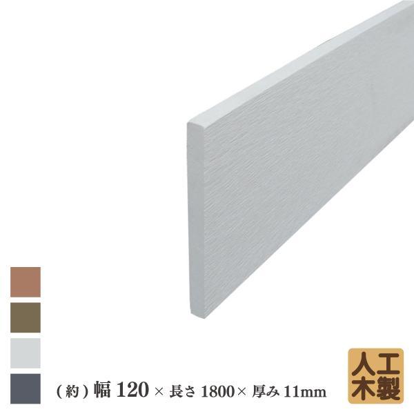 アイウッド人工木材12 ホワイト◇ L1800mm×W120mm×D11mm ボーダーフェンス用板材 アイウッドデッキ幕板 DIY部材